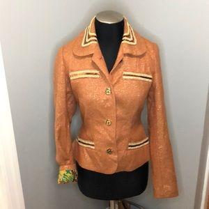 Tracy Reese Sequin Blazer Jacket Tweed
